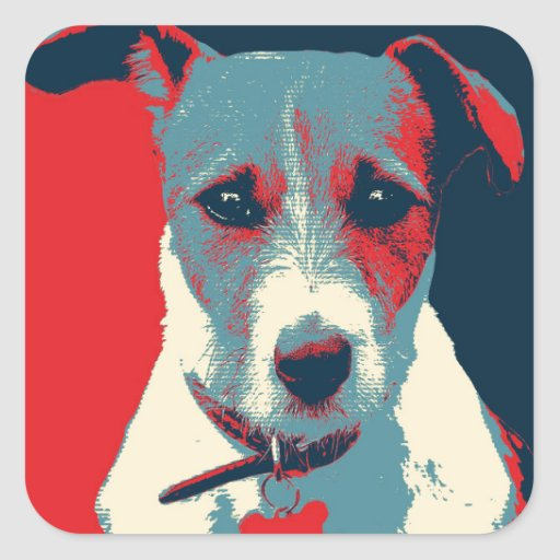 Jack Russel Terrier Political Hope Parody Stickers