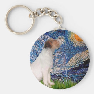 Jack Russell 5 - Starry Night Key Ring