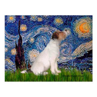 Jack Russell 5 - Starry Night Postcard