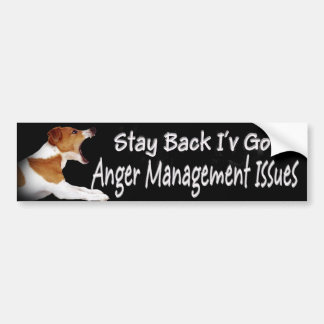 Jack Russell Anger Mgt Issues Bumper Sticker