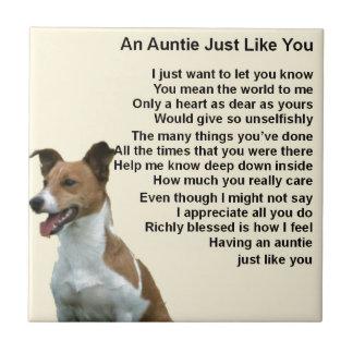 Jack Russell - Auntie Poem Ceramic Tile