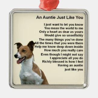 Jack Russell - Auntie Poem Metal Ornament
