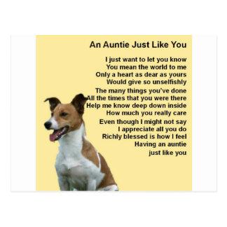 Jack Russell - Auntie Poem Postcard