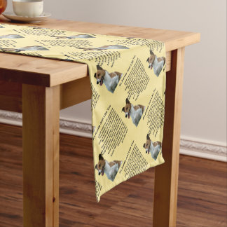 Jack Russell - Auntie Poem Short Table Runner