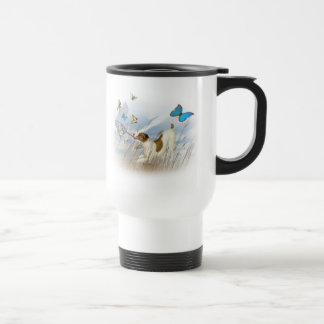 Jack Russell Chases Butterflies Travel Mug