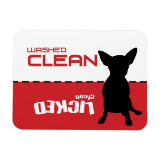 Jack Russell Chi, Dishwasher Magnet - Licked Clean