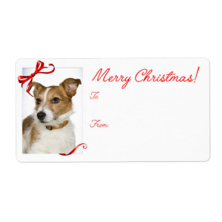 Jack Russell Christmas Gift Stickers