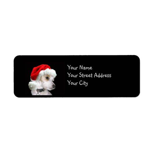 Jack Russell Christmas Return Address Label