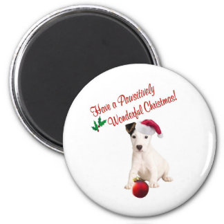 Jack Russell Christmas Wishes 6 Cm Round Magnet