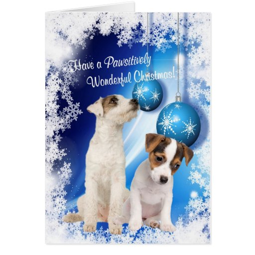 Jack Russell Christmas Wishes - Customize It! #2 Greeting Cards