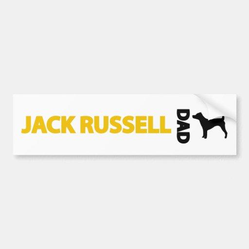 Jack Russell Dad Bumper Sticker