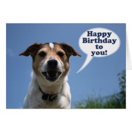 Jack russell happy birthday cards invitations zazzle jack russell dog happy birthday card bookmarktalkfo Image collections