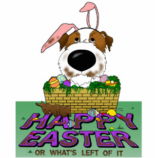 Jack Russell Happy Easter Sculpture Standing Photo Sculpture