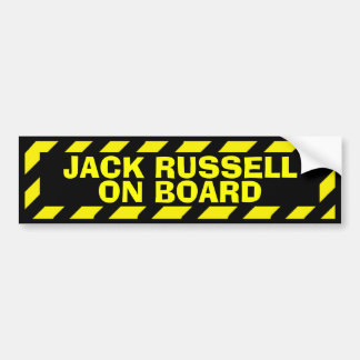 Jack Russell on board yellow caution sticker