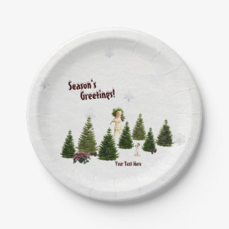 Jack Russell Pink Poinsettia Holiday Paper Plate 2 7 Inch Paper Plate