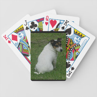 Jack russell poker face playing cards