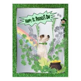 Jack Russell Puppy Number Two Happy St Pattys Day Postcard