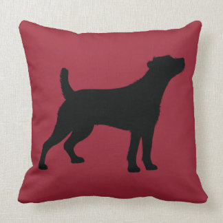 Jack Russell Rough Coat in Silhouette Throw Pillow