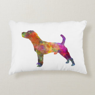 Jack Russell Terrier 01 in watercolor 2 Decorative Cushion