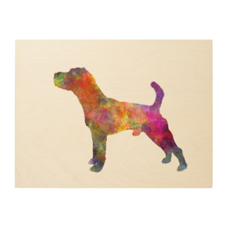 Jack Russell Terrier 01 in watercolor 2 Wood Wall Decor
