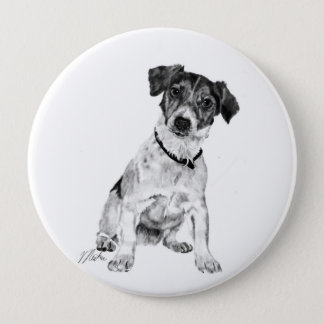 Jack Russell Terrier 10 Cm Round Badge