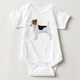 Jack Russell Terrier Basic Breed Illustration Baby Bodysuit