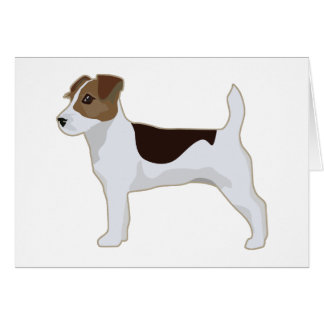 Jack Russell Terrier Basic Breed Illustration Card