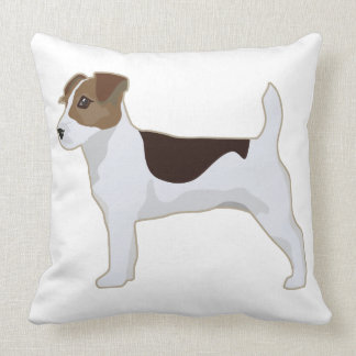 Jack Russell Terrier Basic Breed Illustration Throw Pillow