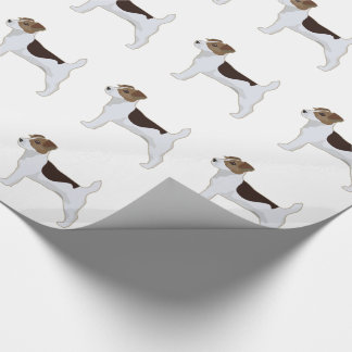 Jack Russell Terrier Basic Breed Illustration Wrapping Paper