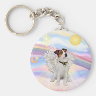 Jack Russell Terrier Basic Round Button Key Ring