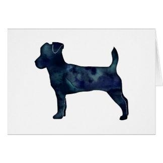 Jack Russell Terrier Black Watercolor Silhouette Card