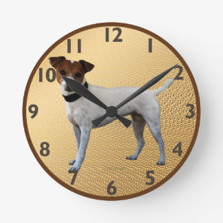 Jack Russell Terrier Round Clocks