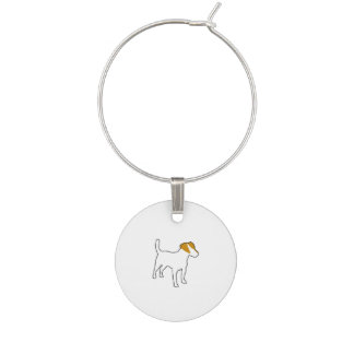 jack russell terrier color silo.png wine charm