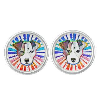 Jack Russell Terrier Colorful Pop Art Portrait Cufflinks