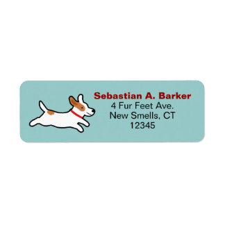 Jack Russell Terrier Cute Cartoon Image Return Address Label