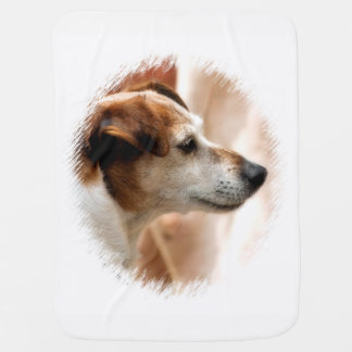 JACK RUSSELL TERRIER DOG BABY BLANKET