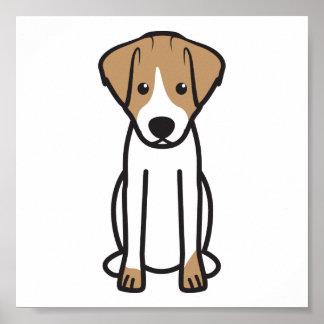 Jack Russell Terrier Dog Cartoon Poster