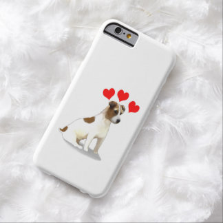 Jack Russell Terrier Dog Hearts Barely There iPhone 6 Case