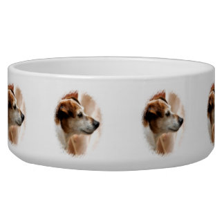 JACK RUSSELL TERRIER DOG PET BOWL