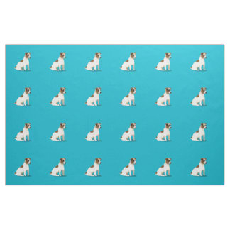 Jack Russell Terrier Dog Sitting Fabric