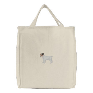 Jack Russell Terrier Embroidered Bag