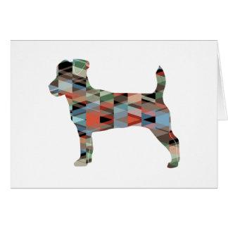 Jack Russell Terrier Geometric Pattern Silhouette Card
