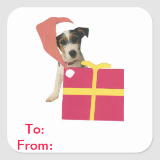 Jack Russell Terrier Gift Tags To and From Sticker