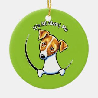 Jack Russell Terrier IAAM Off-Leash Art™ Ceramic Ornament