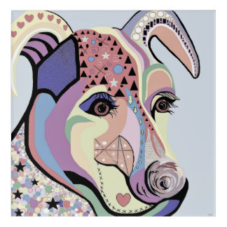 Jack Russell Terrier in Denim Colors Acrylic Print