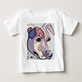Jack Russell Terrier in Denim Colors Baby T-Shirt