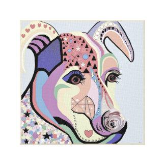 Jack Russell Terrier in Denim Colors Canvas Print