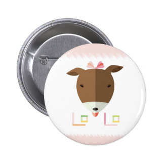 Jack russell terrier Lolo-origami Buttons