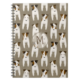 Jack Russell Terrier lovers' monogrammed Notebooks
