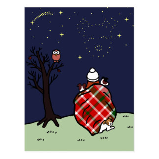 Jack Russell Terrier Mum and Starry Sky Postcard